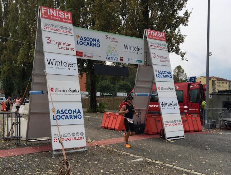 Locarno Triathlon finishline